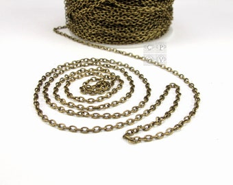 3x2mm oval link antique brass chain,lead & nickel free,2x3mm oval link antique brass chain,3x2 antique brass chain,oval link chain (2406ch)