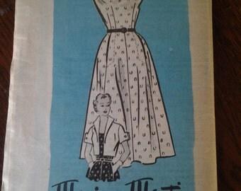 Marian Martin Vintage Sewing Pattern Size 18 1/2 dress and bolero