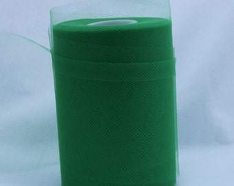 Green tulle roll - 6 inches tulle roll - 100 yard green tulle roll - Green tulle rolls - tulle roll green  - Green decorating tulle