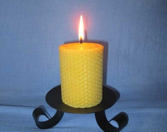 5 honeycomb beeswax pillar candle, 5x10cm