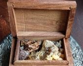 7 Sacred Resins, Dragons Blood, Mystic Myrrh, Black Copal, Frankincense, Golden Copal, Benzoin & Palo Santo, Incense Aromatherapy Meditation