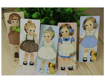 Vintage Style Girl Doll Card Set  - 29 Cards, A024