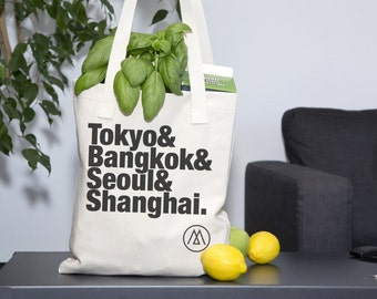 Custom Travel Tote Bag With Your Choice of Cities!