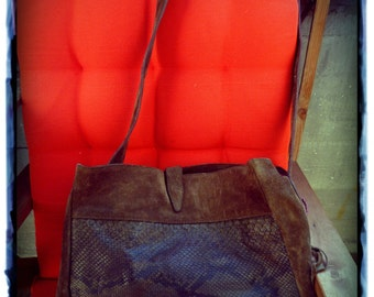 Large suede bag 70s
