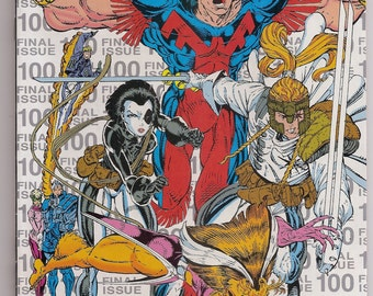 The New Mutants 100 NM- 3rd Printing Silver Variant 1st Appearance X-Force Rob Liefeld Cover Marvel Comics Book Copper Age April 1991