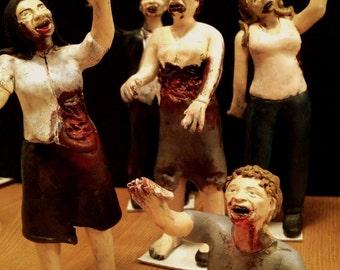 1 Zombie Cake Topper Figurine