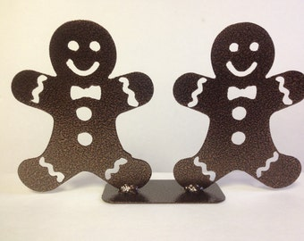 Double Metal Gingerbread Men Decoration