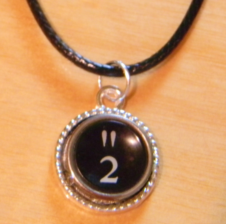 2 typewriter key jewelry typewriter key necklace and 2