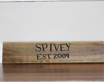 Custom Name Plate/ Reclaimed Wood Name Painting/ Family EST Painting