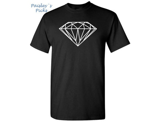 Diamond shirt white diamond design t shirt parody t for Diamond and silk t shirts