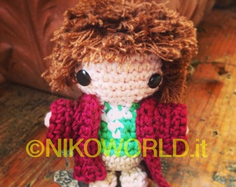 Handmade Amigurumi Chibi Bilbo Baggins-The Hobbit