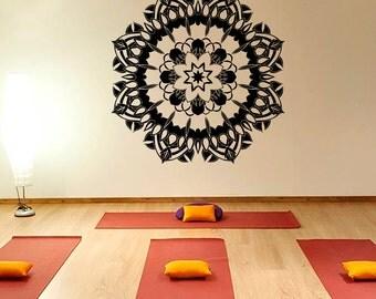 Wall Decals Mandala Om Sign Decal Yoga Sticker Vinyl Decals Wall Decor Murals Z366