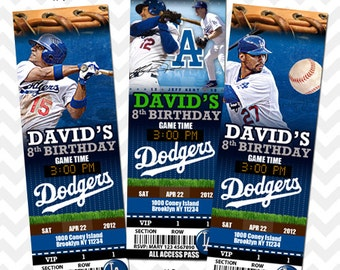LA Dodgers, Los Angeles Dodgers, Ticket Invitation