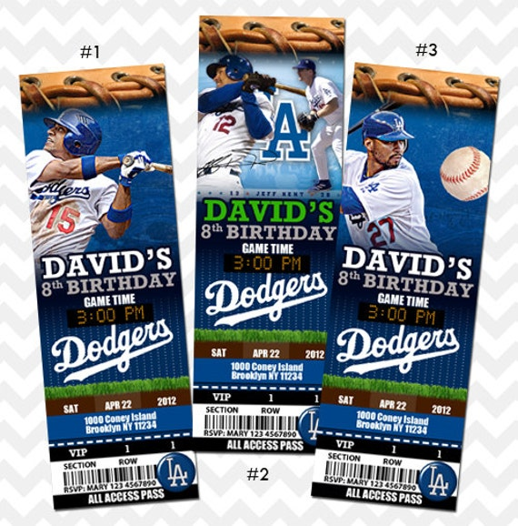 la dodgers los angeles dodgers ticket invitation  kreatestudio