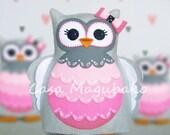 Stuffed Owl Digital Pattern - Hand-Stitched Felt Owl DIY - PDF File - Instant Download