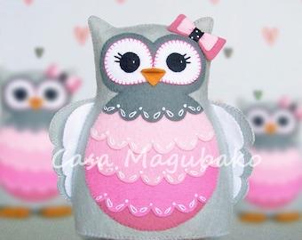 PDF Pattern - Owl Felt Pattern - Hand-Stitched Owl - Stuffed Owl - Felt Owl Softie Pattern - Owl Pincushion Pattern - Sewing Pattern -