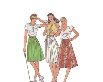 70s large A-Line Skirt vintage pattern 40-32-42 color block  Plus size sale waist 32