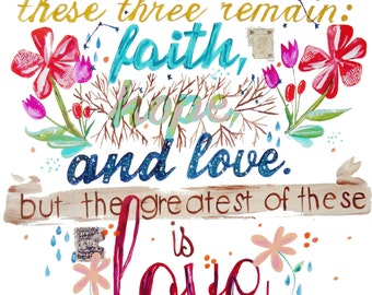 Faith Hope & Love Print