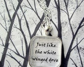 Edge of Seventeen by Stevie Nicks Glass Song Lyric Pendant Necklace Key Chain
