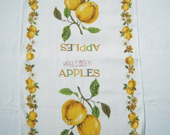 Vintage Souvenir Towel Apples from Hollywood