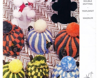 Poodle Bottle Cover and 6 Tea Cosies - Digital Knitting Pattern