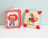 Two 1930s Valentine's Day Cards with Young Cowboys, Lassos and Horses
