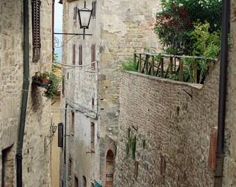 Italian Photography, Rustic Wall Decor, Italian Steps Print, Stone Wall Photography Travel, Italian Art, Tuscany Italy Art, Italy Print