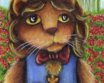 Wizard of Oz Cats, Cowardly Lion, Emerald City 5x7 Fine Art Print