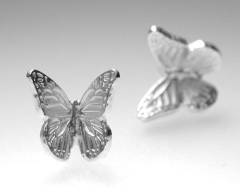 Silver Post Earrings Butterfly Jewelry Monarch Earrings Special Occasion Spring Sterling Silver Earrings Nature Inspired Jewelry Woodland