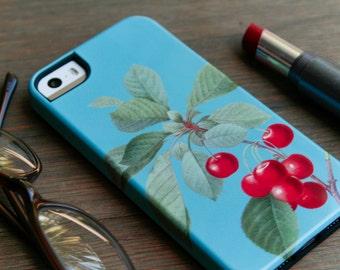 iPhone 6S Case Cherry iPhone Case, Retro iPhone SE 5S Case /  Rockabilly iPhone 6, Galaxy S6 Case Cherries iPhone 6 Plus Case
