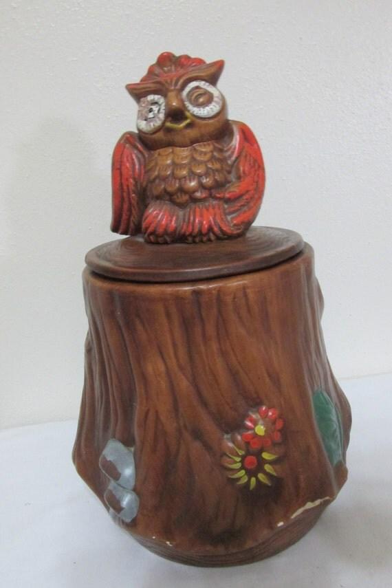 Owl Cookie Jar Treasury Craft Usa