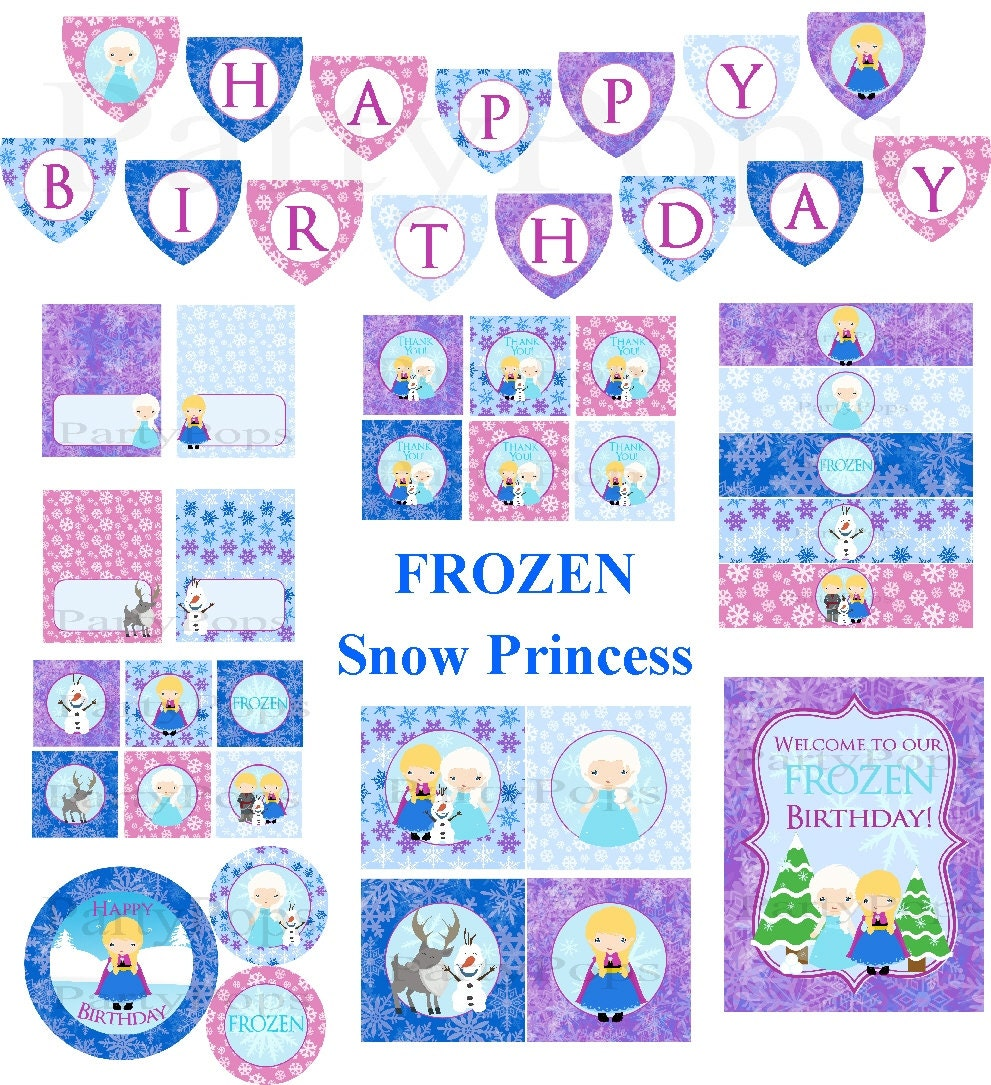 Frozen Birthday Downloads  Party Invitations Ideas