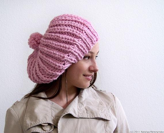 Knitting PATTERNS, Knit Hat Pattern Chunky Hat Pattern Chunky Knitting Pattern Slouchy Beanie Pattern Slouchy Hat Pattern Slouch Hat Pattern
