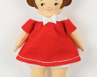 Easy Felt Doll pdf Pattern – Betsy - Instant Download