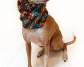 Italian Greyhound (Small Dog) Snood or Neck Warmer in Autumn Revelry