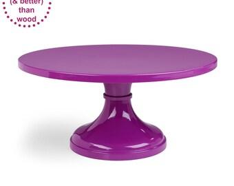 Purple Wedding Cake Stand