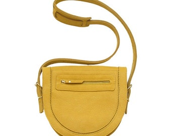 Marge Zig Zag shoulder bag / Yellow leather bag / Mustard / Leather Bag / Leather Purse / Leather Shoulder Bag / Dijon / Yellow / Ladys bag
