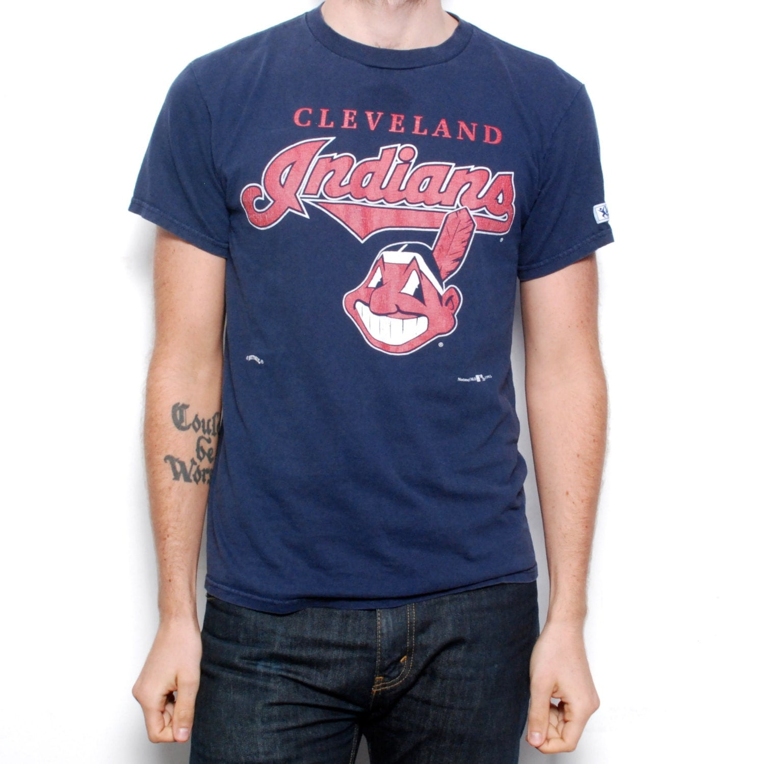vintage cleveland indians mlb 90s t shirt made in usa