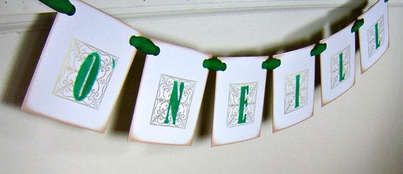 Personalized St. Patrick's Day banner