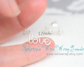 MINI Love Cartilage Earring - Single or Pair - Love Stud Earring - Script Love Earring