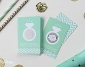 24 Scratch Off Cards for Bridal Shower Game // Mint Green