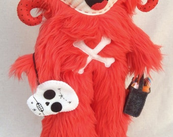 Day of the Dead Happy Yeti Art Doll