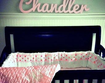large wooden script name word or phrase cursive letters wooden letters for your home accent wall childs room or nursery unpainted