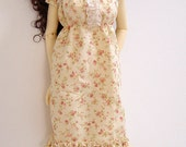 Vintage Cream & Dusty Rose Sun Dress w/ Lace Trim for JID/MSD