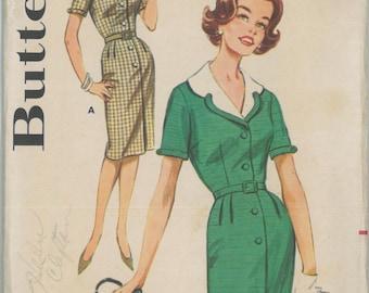 2175 1960's Women's Dress Vintage Sewing Pattern Butterick 2175 Bust 38