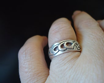 STERLING SILVER Mexico Ring Size 9