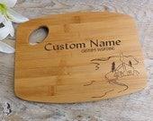 Personalized Wood burned Cutting Board   LAKESIDE design