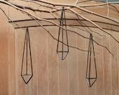 3 Geometric Prisms - Large- Scandinavian himmeli mobile - planter