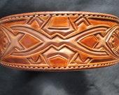Large leather dog collar, Celtic style design collar , Dog Collar , large dogs , Pitbull terrier dogs , Labradors