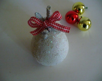 Handpainted Wooden Pear Glitter Christmas Ornaments Holiday Decor YourFineHouse ShipsWorldwide